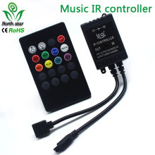 LED Music IR Controller 12V 6A 20 Keys IR Remote Controllers for 3528 5050 RGB LED Strip Lights Mini Controller