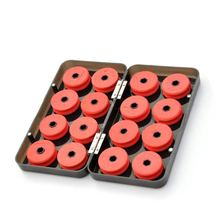 16pcs Foam Winding Board Fishing Line Shaft Bobbin Spools Tackle Box Red Utility Line Box Fishing Tackle Boxes