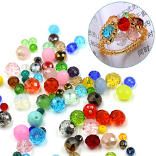 2MM Crystal Glass Rondelle Beads 200pcs/lot Faceted Glass Beads Making jewelry DIY Beads cuentas de cristal bisuteria Pendientes