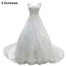 Buy L'ivresse 2017 Elegant Vestido De Noiva Long Wedding Dresses Ball Gown White Ivory Tulle Appliques Charming Bridal Gown LW002 for $116.00 in AliExpress store
