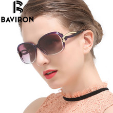 BAVIRON Rosette Design Sunglasses Women Outdoor Polarized Glasses Luxury Ladies Butterfly Colorful UV400 Protection Eyewear 2229(China)