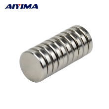 AIYIMA 10pcs N35 25*5mm Round Cylinder Magnets 25x5 Rare Earth Neodymium Permanent Magnets Art Craft Magnetism Magnetic Type