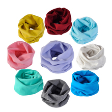1pcs Fashion Winter Warm Children Boys Girls Collar cotton blend solid Scarf O Ring Neck Scarves