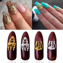 Hot Best Deal  5Pcs Practical Fashion Nail Art 3D Alloy Rhinestone Metal Decoration Beauty GirlA20