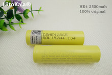 2pcs original he4 2500mah lithium ion 18650 battery 3.7v power batteries 20a 35a for LG download electronic cigarette battery