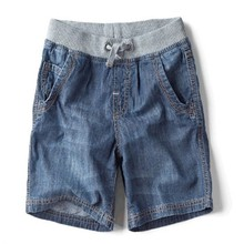 2015 New Korean Fashion Casual Denim Hot Pants Brand Children's Fashion Denim Shorts For Boys Summer Shorts(China)