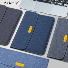 Axbety Fabric Sleeve Case For iPad Pro iPad Air 2 Case Fashion Soft Slim Jeans Style Cover For iPad 6 Full Protection Felt Bag(China)
