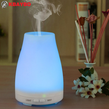 Humidificador ultrasónico difusor de aromaterapia, vapor frío con luces LED de color, difusor de aceites esenciales sin agua con apagado automático