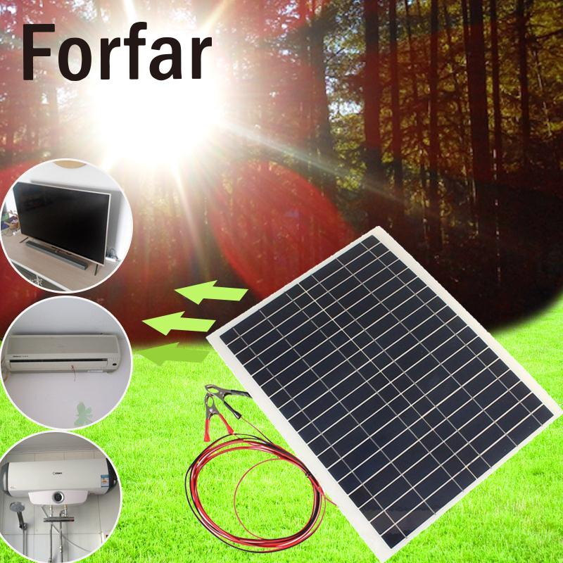 Outdoor  212v 20w Sun Power Soft Flexible Solar Panel With Cable Clip Solar Panel 4M Outdoor Camping Hiking Travel Tool<br>