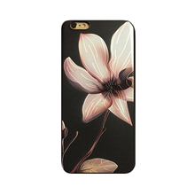 2017 Fashion cartoon occident luxury wihte lotus gold rose flower tpu cell phones case cover For Iphone6 6s/6plus 6splus/7/7plus