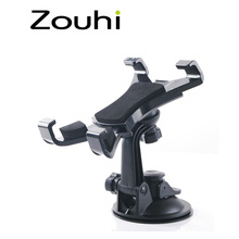 Hot Sale 7-10 inch Tablet PC Universal Car Windshield Suction Mount Holder Stand For iPad Rotary Free ,Cleanable base disc
