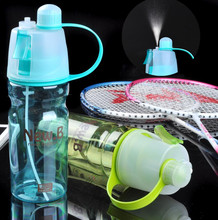 2017 Newest Design Plastic Sports Spray Water Bottle Straw For Outdoor Bicycle Cycling Sports Gym Drinking Bottles