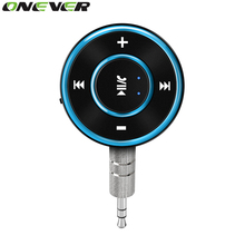 Onever Wireless Bluetooth Audio Receiver Handsfree Car Kit Music Audio Adapter 3.5mm Aux Jack for Headphone Speaker 2 Colors(China)