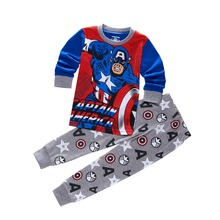 Hot Sale Pure Cotton Cartoon Long-Sleeved Boy's Sets Kids Clothes Boys Clothes Clothing Sets Children's Pajamas P048