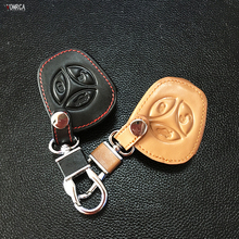 2017 Popular Genuine Leather Case Cover Key For Sport Sedan Lada Priora Kalina Granta Vesta X-Ray X-ray 3 buttons protect shell(China)