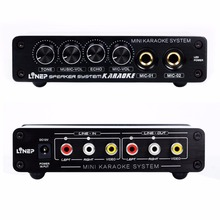 kebidumei New Karaoke Machine System A933 Sound Mixer Amplifier 12V W/ RCA In and Out Cable For PC Cellphone TV DJ Mini(China)