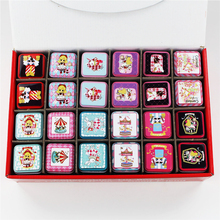 Lovely Cartoon Girl Tin Box 24Piece/Lot Personalized Mac Lipstick Box Beauty Mac Cosmetics Organizer Small Box For Tea Coin