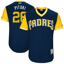 "MLB Men's San Diego Padres Yangervis Solarte 'Pituki"" Baseball Navy 2017 Players Weekend Authentic Jersey(China)"