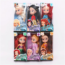 6pcs/lot Princess Doll Toy, 8.5cm Princess Dolls Set Model, Snow White Rapunzel Merida Dolls For Girls, Kids Toys, Brinquedos