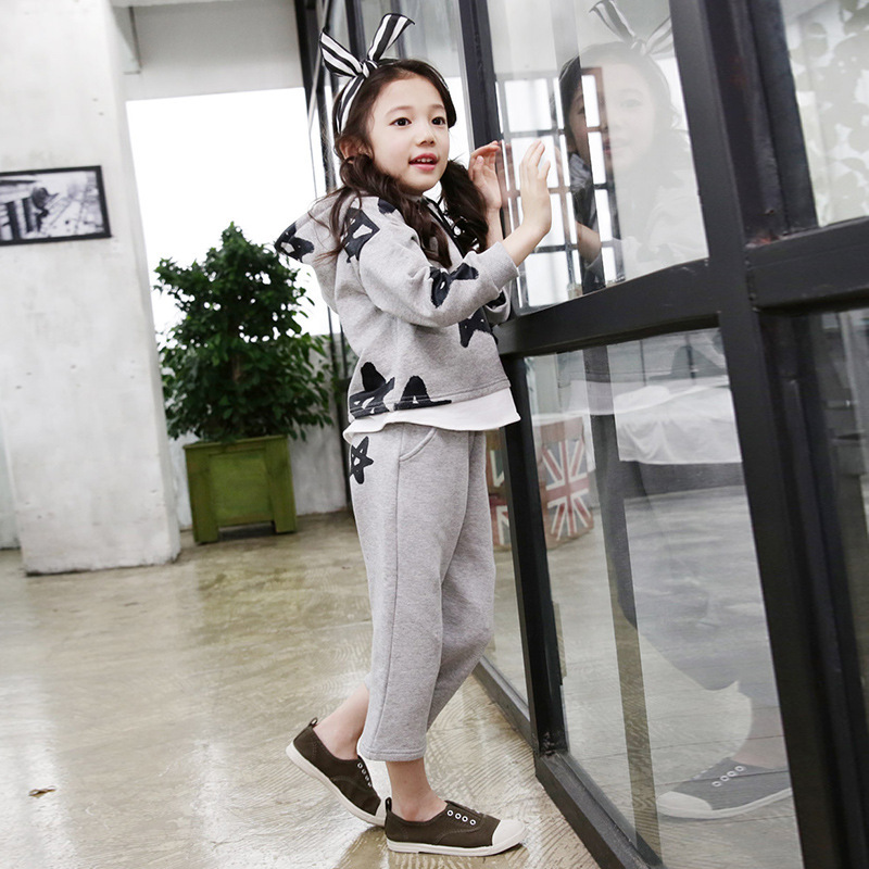 Children Suit Long Sleeve Autumn Child Pure Cotton Twinset Printing Korean Quality Childrens Garment Two Pieces Kids Clothing <br>