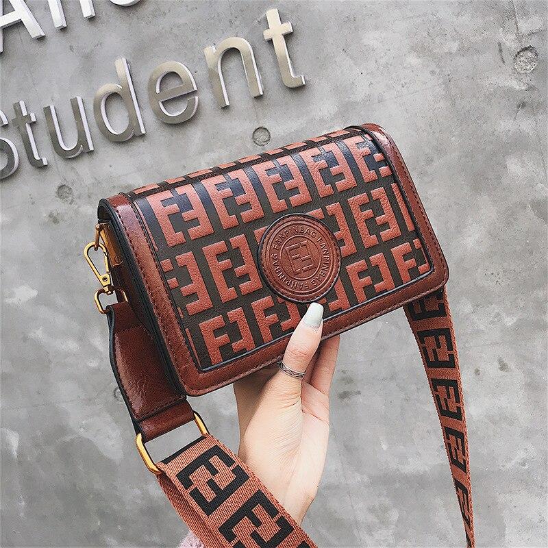 2019 Of The Small Square Fashion Women's vintage Shoulder Bag Shoulder Bag Messenger Bag Mobile Phone Bag Brand original design 29 Online shopping Bangladesh