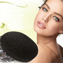 1Pcs Soft Natural Black Bamboo Sponge Face Washing Exfoliator Cleaning Cosmetic Puff Beauty Care Tools A5