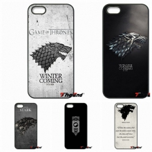 For Xiaomi Redmi Note 2 3 3S 4 Pro Mi3 Mi4i Mi4C Mi5S MAX iPod Touch 4 5 6 Game of Thrones House Stark Wolf Symbol Print Case