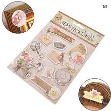 1PC 3D Adhesive Stickers Ornament DIY Scrapbooking Photo Album Diary Vintage European Wedding Deocrative Craft Home Supplies(China)