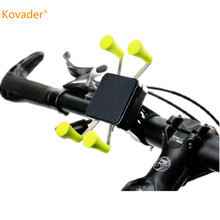 Kovader X-Grip Clamp Mount Mountain Bike Holder Bicycle Mobile Phone Stand Cell Phone motorcycle Handlebar Support for iphone6s(China)