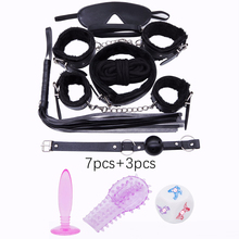 DOMI Hot sale 10pcs/Set PU Leather Adult Game Erotic bdsm Toy Women Fetish Bondage Sex toys(China)