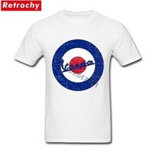 Buy Vintage Vespa Logo T Shirt Men Retro Looking Fashion Scooter T-Shirts Round Neck Sale Brand Tee Shirts Boyfriend Valentines Gift for $12.98 in AliExpress store