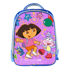 13 Inch Children School Bags 3D Cartoon Baby Bag Dora Schoolbag Cute Student Bagpack Girl Kindergarten Book Bag Mochila Infantil