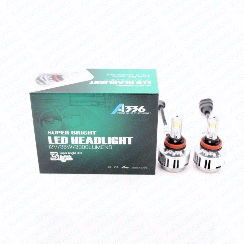 XIANGSHANG High Power White Car Auto LED H8 H9 H11 Fog Head Light Lamp Bulbs 6000K 6600LM 72W COB LED Headlights <br><br>Aliexpress