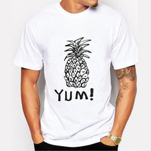 New Men's Aloha Pineapple Print T shirt Fashion Pineapple Supply Design Short Sleeve Tops Men Tshirt Cool O-neck T-shirt