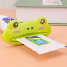 3pcs Bathroom Dispenser  Animal Tooth Paste Squeezer Tube Squeezer Easy Squeeze Dispenser Roll Holder Cartoon Cat/Frog/Panda/Pig