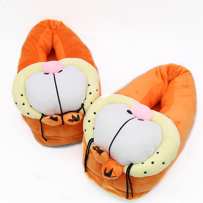 New Winter Garfield Style Slippers for Men&Women Cute Cartoon Warm ...
