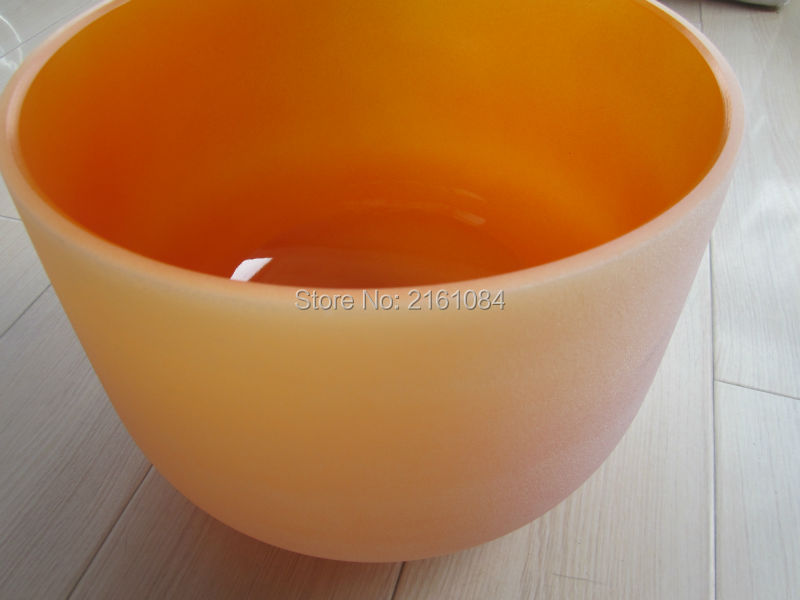 6 Orange Color D Sacral Chakra Frosted Quartz Crystal Singing Bowl with free suede and o ring<br><br>Aliexpress
