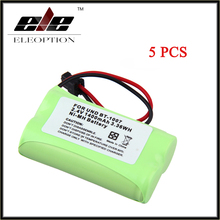 High Quality Eleoption 5pcs 2.4V 1400mAh NiMH Battery for Uniden BT-1007 BT904 BP904 BT1015 Panasonic HHR-P506