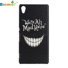 mosunx GS 1PC Fashion Black Smile Pattern PC Hard Back Case Cover For Sony Xperia Z4 Jul 27