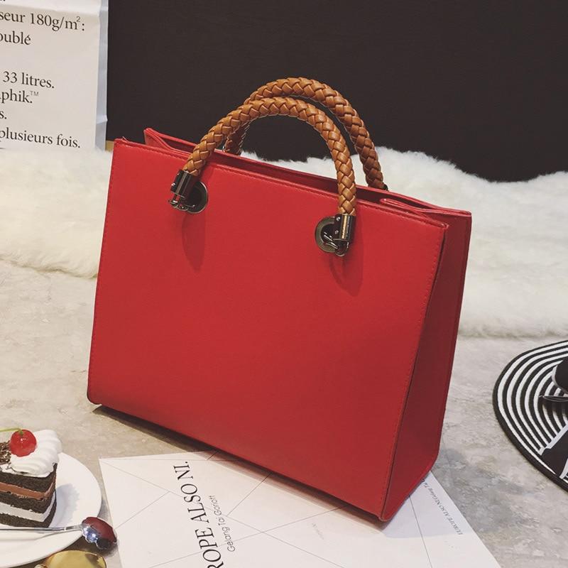 2017 Fashion Women Bags Handbags Famous Brands Business Bag PU Leather Handbag Tote Bag Elegant Lady Shoulder Bag<br><br>Aliexpress