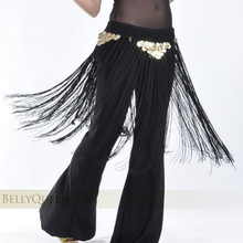 Belly Dance Accessories tassels elastic Hip Scarf Belt Chain with coins practice dancewear dance school wholesale SF276