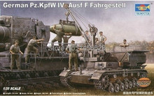 trumpeter 1/35 00363 GERMAN PZ.KPFW IV AUSF F FAHRGESTELL Assembly scale Model kits(China)