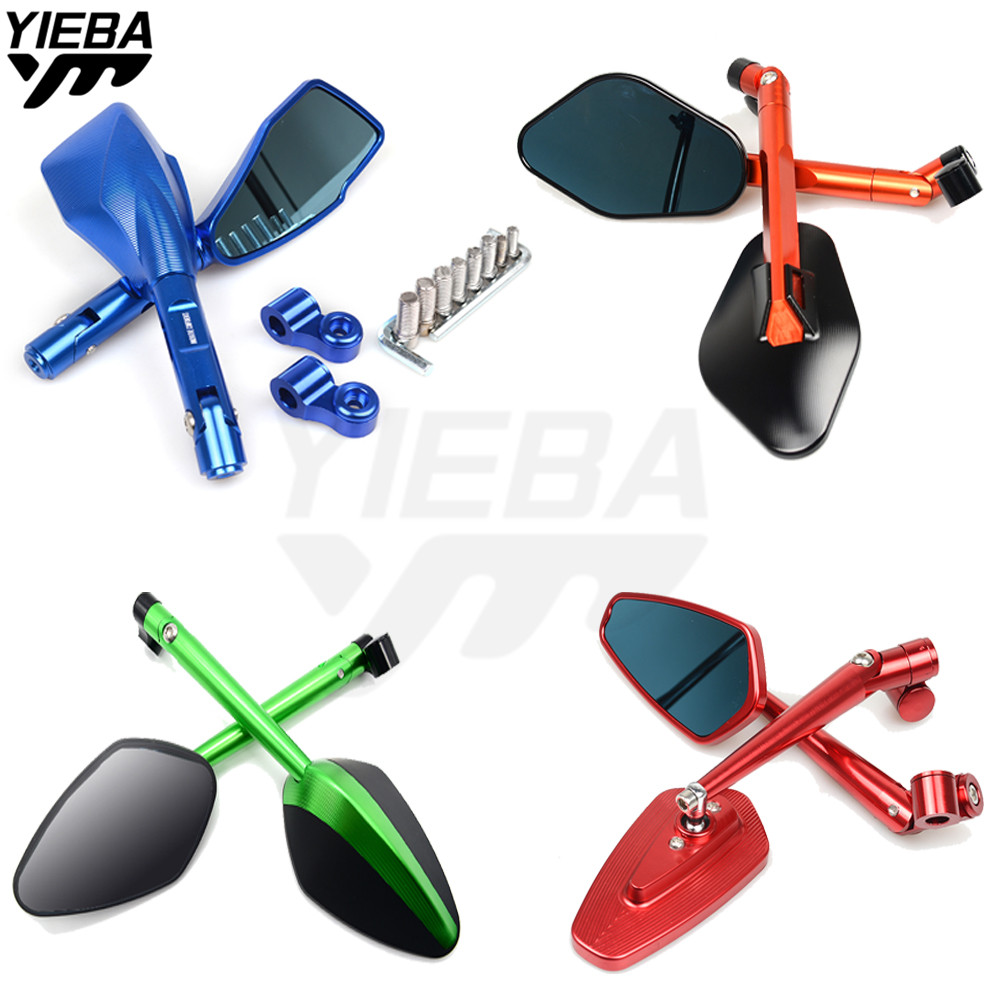 Universal Motorcycle Rearview Mirrors Rear View Side Mirror FOR YAMAHA YZF-R15 YZF600 R1 R6 R6S USA VERSION XJ6 DIVERSION MT07