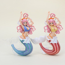 15cm Japanese Anime One Piece Shirahoshi Action Figure Mermaid Princess collectible model toys