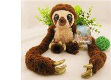 High quality 65cm 100cm Belt sloths Long arm monkey plush doll the Croods Factory direct sale toys kids christmas birthday gift