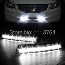 Car Truck Van Daytime Running Light Head Lamp White 8 LED DRL Daylight Kit Hot A1757 18o