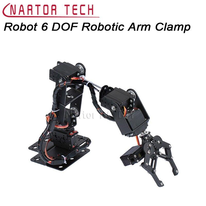 Robot 6 DOF Arm Mechanical Robotic Arm Clamp Claw Mount Kit MG996R/DS3115  Servos Horn For Arduino DIY Robot Parts Aluminium<br>