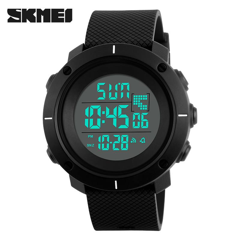 2017 SKMEI fashion Digital Watches men sports 50M Professional Waterproof large dial hours military Luminous wristwatches<br><br>Aliexpress