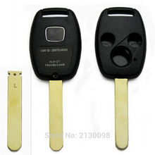 Blank Key Shell 3 Button Key For Honda Accord FIT CIvic CRV City Odyssey Key Shell Replacement 10pcs/LOT Wholesale Free Shipping