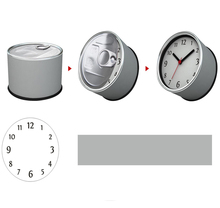 [In Stock] Can Tin Magnetic Cheap Wall Clocks,Cheap Desk Clocks,Cheap Table Function Clocks in Free Shipping(China)